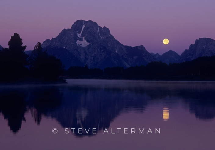 105 Oxbow Moonset, Grand Teton National Park