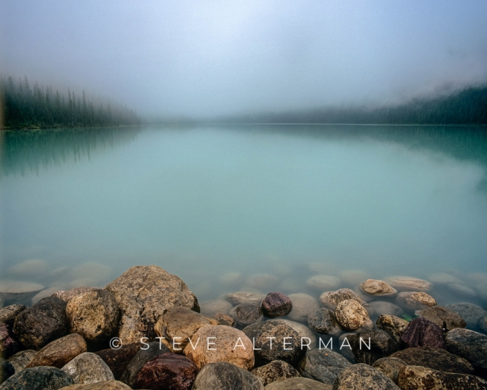 122 Foggy Morning on Laske Louise, Banff National Park
