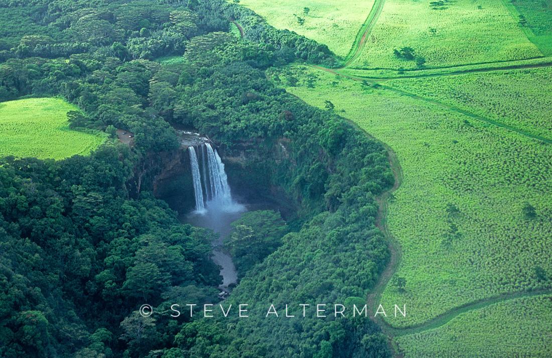 324 Wailua Falls from the Air, Kauai