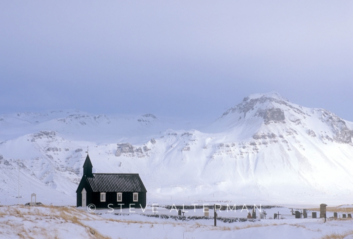 432 Black Church at Budir, Snaefellsnes Peninsula