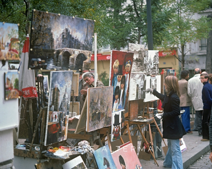 43 Paris Street Scene 1972