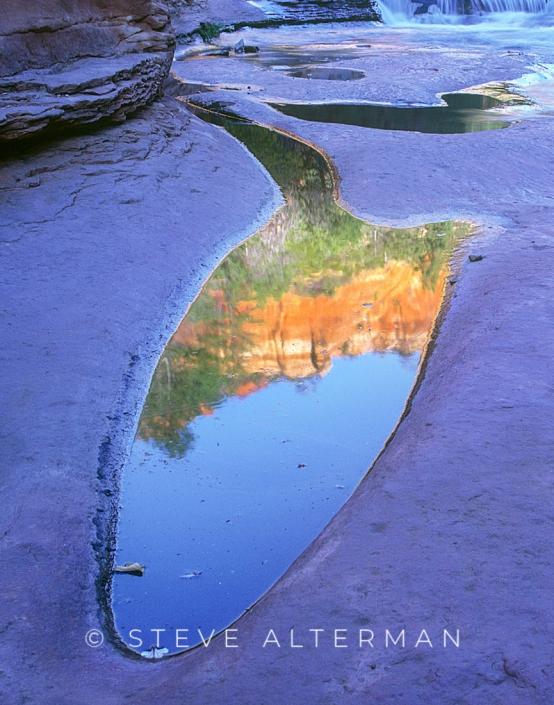 504 Slide Rock Reflection, Oak Creek Canyon, Sedona, Arizona