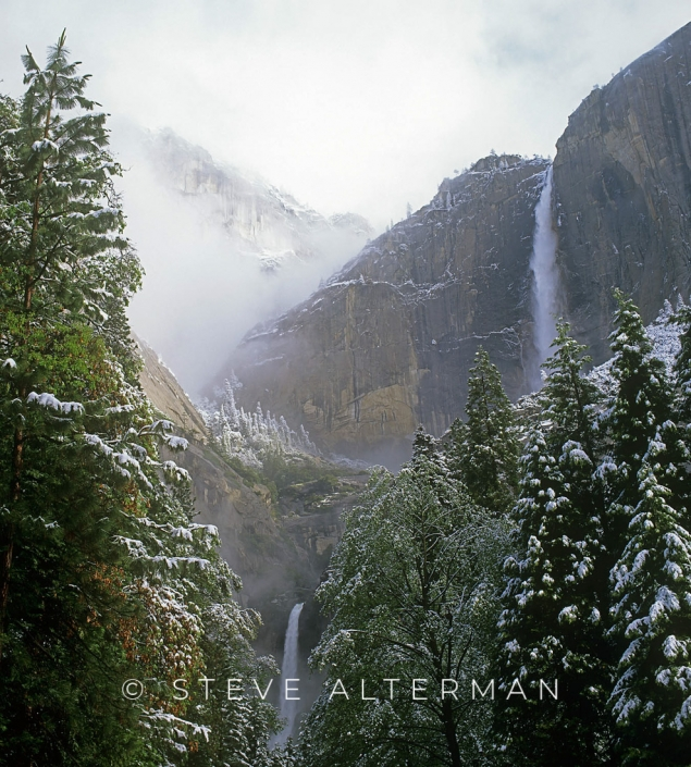 609 Yosemite Falls, Spring Storm, Yosemite National Park
