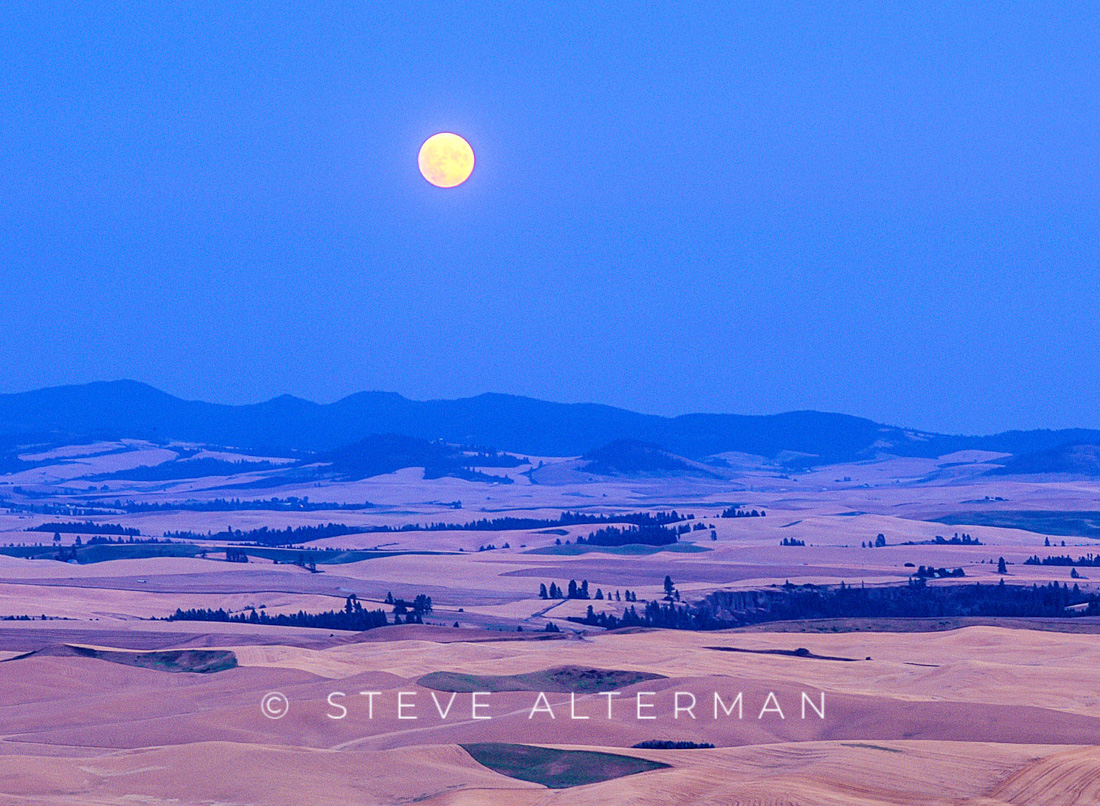 722 Moonrise Over the Palouse from Steptoe Butte, Eastern Washington