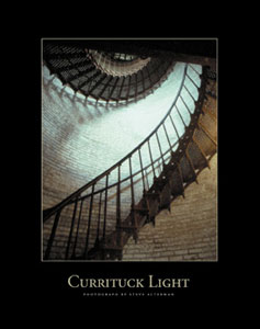Currituck Lighthouse stairs lithograph - Steve Alterman