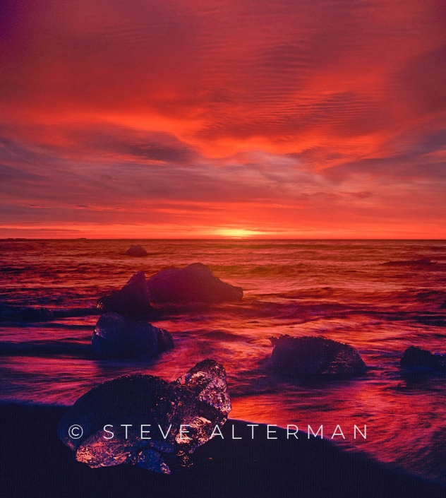 806 Breidamerkursandur Sunrise, Iceland